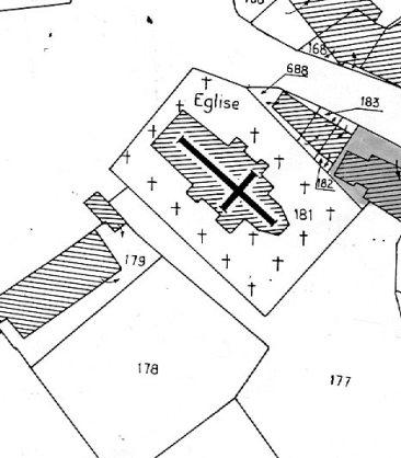 Plan église de Bazolles