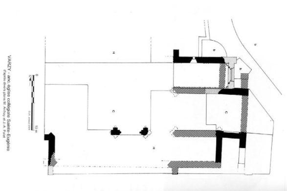 Plan église de Sainte Eugénie