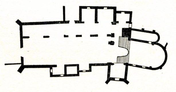 Plan de l'église Saint Aré de Decize