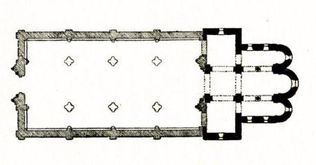 Plan de l'église de Champvoux