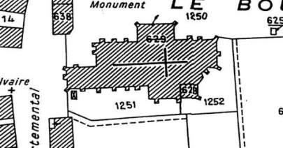 Plan de l'église de Lurcy Le Bourg