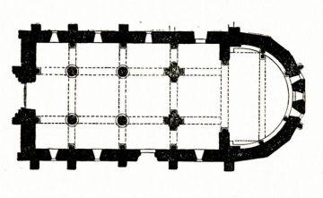 Plan de l'église de Mars sur Allier