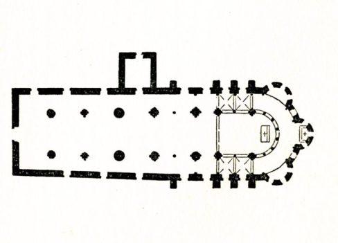 Plan de l'église de Saint Révérien