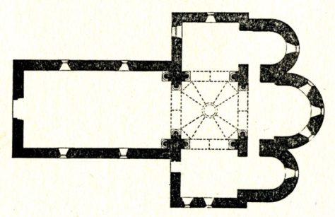 Plan de l'église de Tresnay
