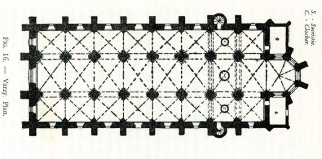 Plan de l'église de Varzy