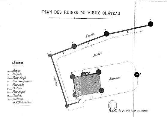 Plan des fortification de Château chinon