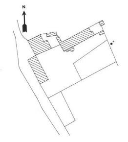 Plan du château d'Oulon