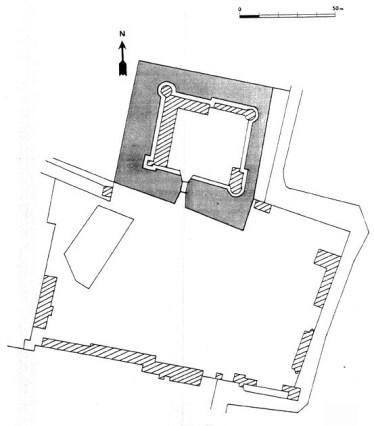 Plan du château de Brinon sur Beuvron