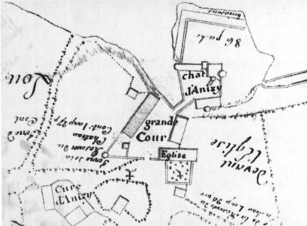 Plan du domaine du château de Limanton