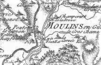 Plan du château de Moulins Engilbert