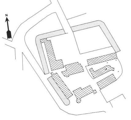 Plan du château de Saint Pierre du Mont