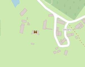 Plan du château du domaine de Saugny