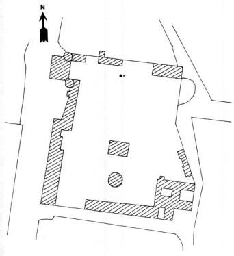 Plan du domaine du Château de Beaumont-la-Ferrière