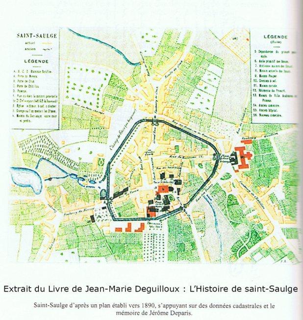 Fortification de Saint-Saulge carte de 1890
