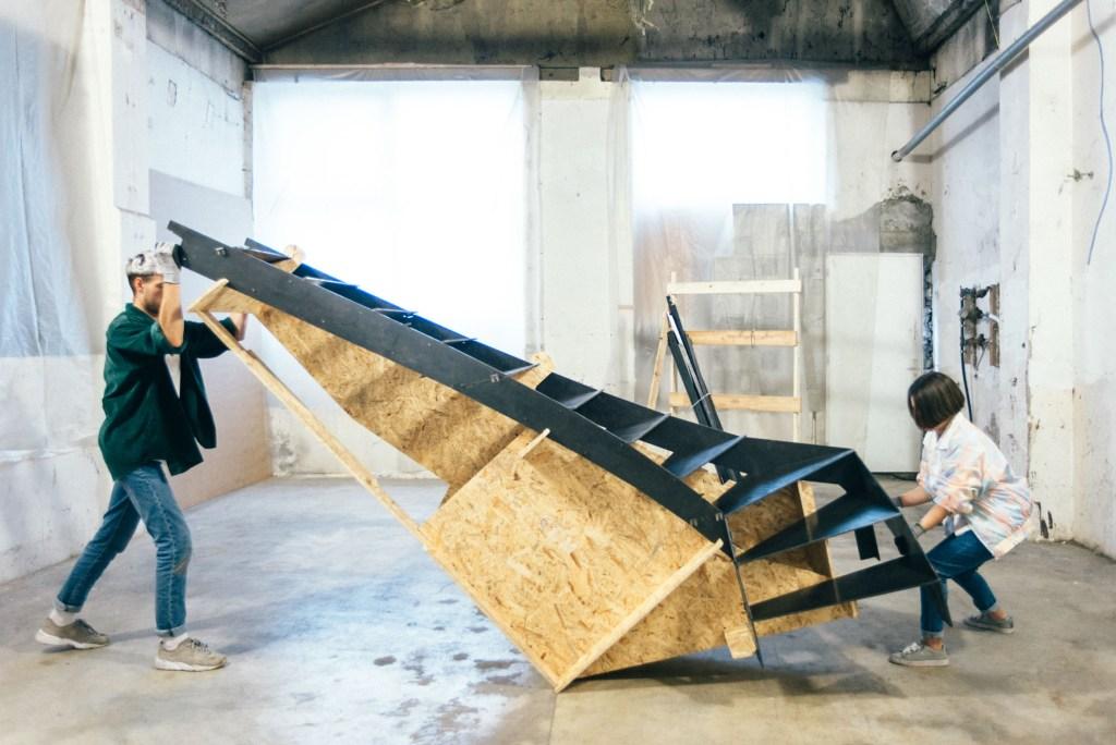 escalier métallique en kit RondCarré