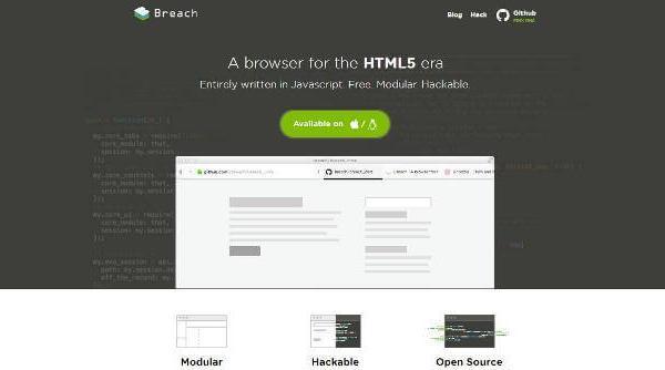 Breach : Un navigateur basé sur du Javascript