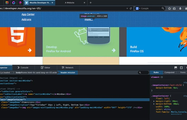 Firefox Developer pour développeurs web