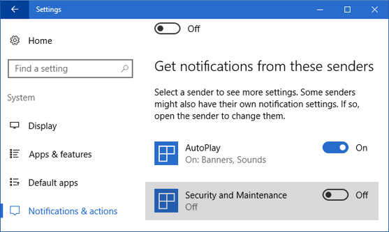 How to disable Windows 10 1809 firewall notification – web