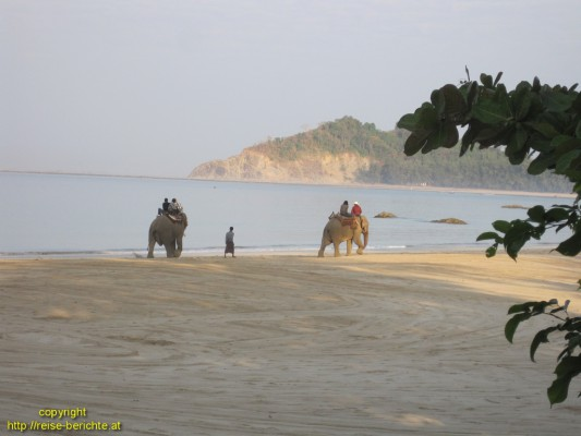 Ngapali Beach - Elefantenmorgen