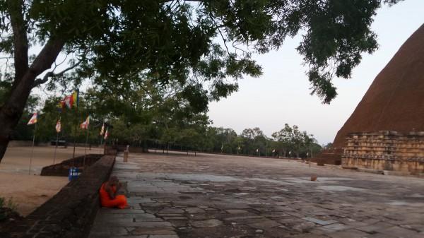 Hier ein rezitierender Mönch, schade, dass man nichts hören kann…
