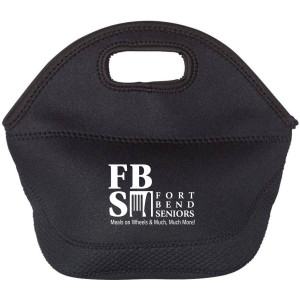 FBS Logo - Black Insulated Neoprene Lunch Tote