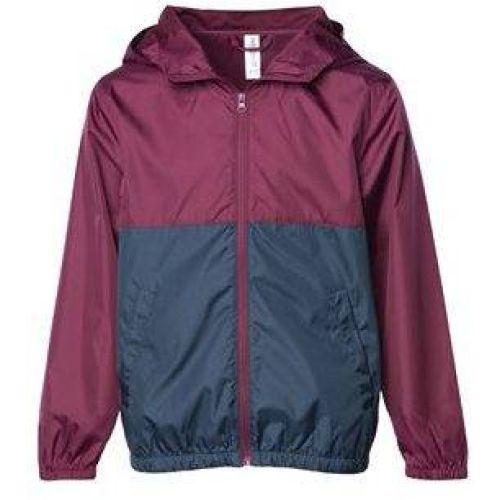Youth Light Weight Windbreaker Zip Jacket
