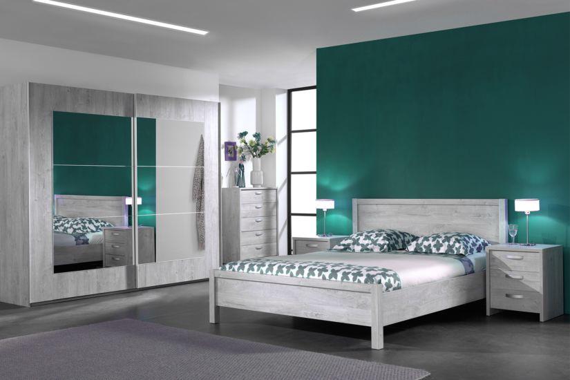 chambre a coucher alice avec lit 140x200cm