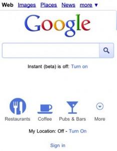 Icônes Google Mobile