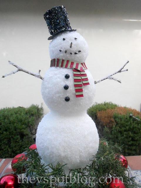 25 increibles  adornos de navidad hechos a mano - hombre de nieve cubierto de sal