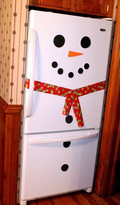 25 increibles  adornos de navidad hechos a mano - refrigeradora hombre de nieve