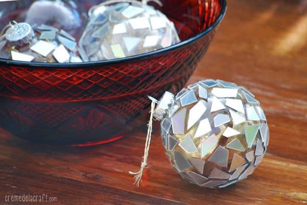 25 increibles  adornos de navidad hechos a mano - esferas decoradas con restos de CD