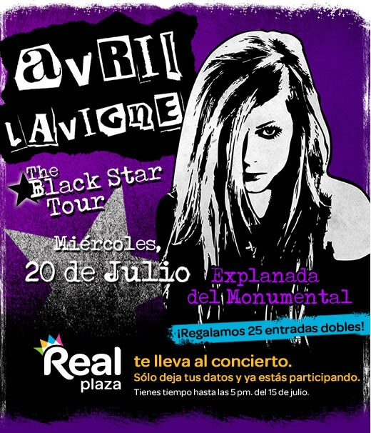 avril-lavigne-gana-entradas-concierto-The-Black-Star-Tour-2011-real-plaza
