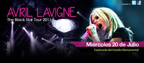 avril-lavigne-gana-entradas-concierto-The-Black-Star-Tour-2011