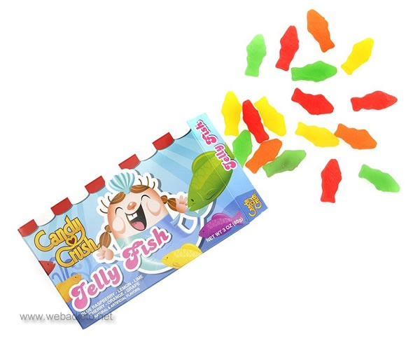 caramelos reales de candy crush saga jelly fish