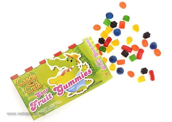 caramelos reales de candy crush saga sour fruit gummies