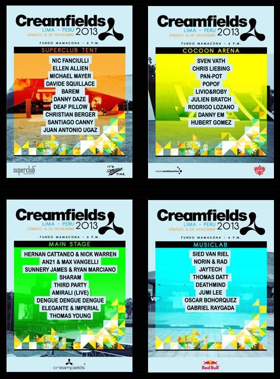 creamfields peru 2013 line up fecha lugar entradas escenarios