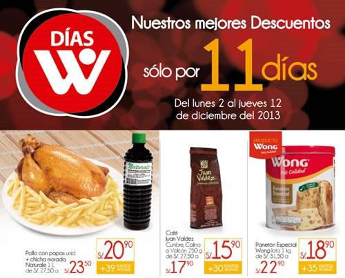 dias w wong 11 dias de ofertas diciembre 2013 peru