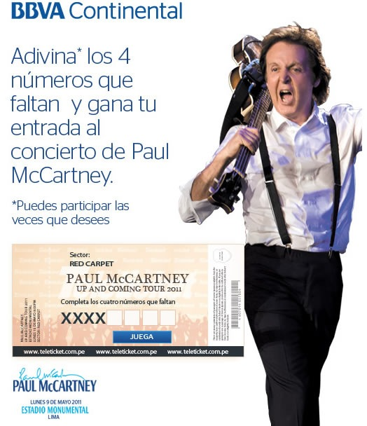 gana-entradas-paul-mccartney-peru-2011-bbva-continental