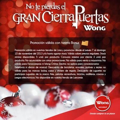 ofertas cierrapuertas navidad wong noviembre 2013 1