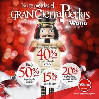 ofertas cierrapuertas navidad wong noviembre 2013