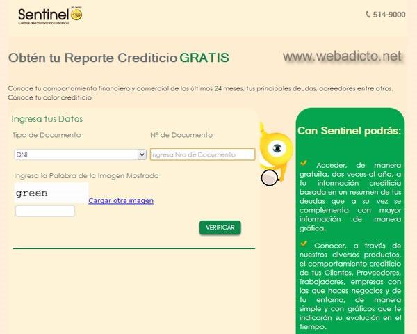 sentinel consulta gratis deudas por internet reporte crediticio 1
