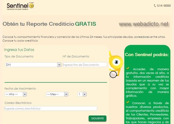 sentinel consulta gratis deudas por internet reporte crediticio 2
