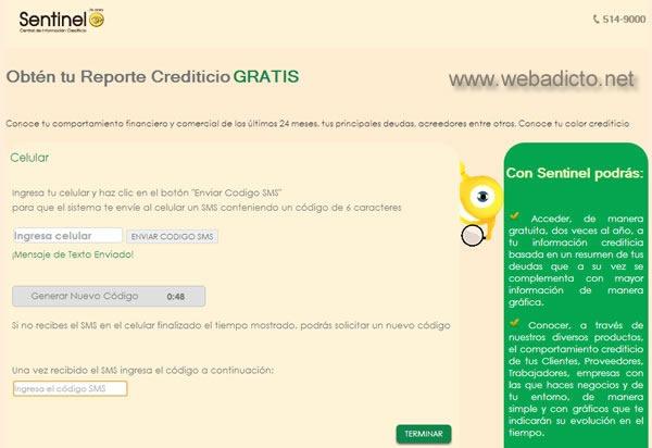 sentinel consulta gratis deudas por internet reporte crediticio 4