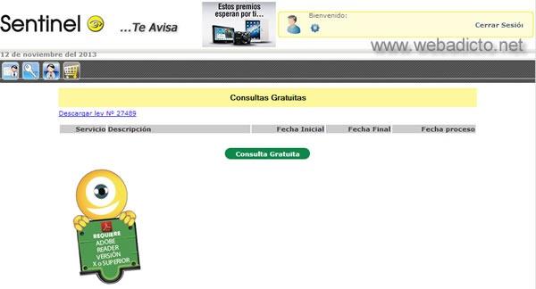 sentinel consulta gratis deudas por internet reporte crediticio 5
