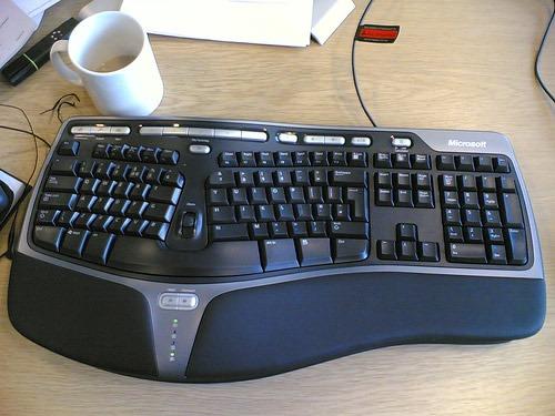 teclado-de-la-computadora-ergonomico