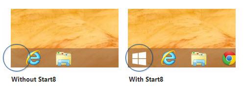Add start button in Windows 8