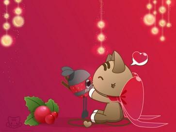 A Christmas Kiss by lafhaha