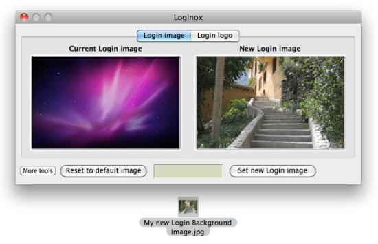 Change MAC login background