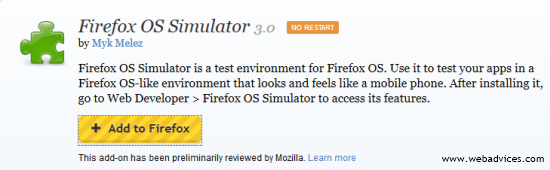 Install Firefox OS Simulator on PC