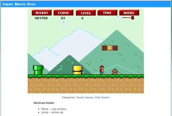 Play Super Mario Bros Online